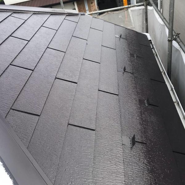 屋根 中塗り後
